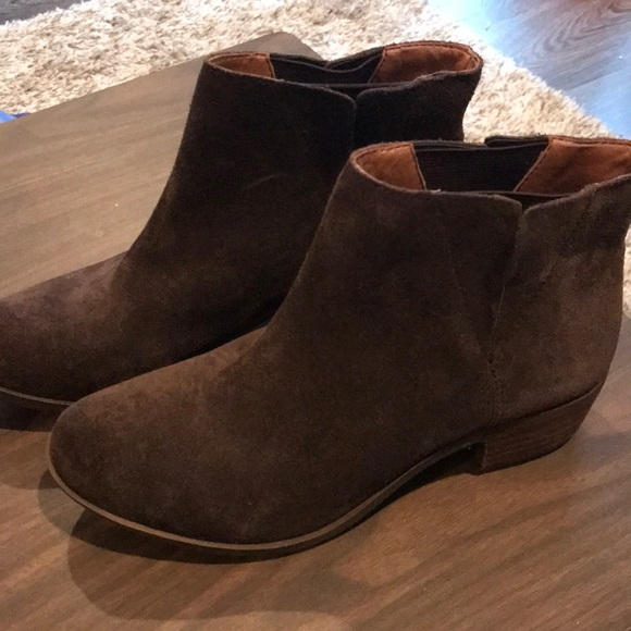 Shoes | Lucky Brand Suede Booties Size